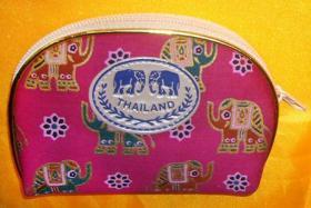 泰国大象布艺小零钱包/儿童钱夹 老人证件包 女士手拿包 化妆包 小饰品杂物包