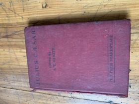 3302:《JULIUS CASAR    EDITED BY A.W.VERITY》尤利乌斯卡萨 威廉莎士比亚,英文原版,精装本