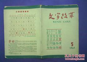 文字改革 1963 5