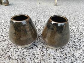 老瓷罐拔火罐一对9厘米*7厘米*6厘米