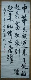 手书真迹书法:孙嵩行书《中华民族迎来了....》