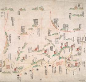 《宁波老地图》《奉化老地图》《清道光浙江宁波府奉化军事守备地图》开幅60*56CM,原图高清复制。裱框后,风貌好。