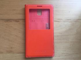 三星Galaxy Note 3  手机壳 仿皮革材质 (橘色)