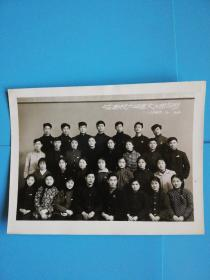 哈商校64年届文工团合影老照片长16宽12.2厘米.1965.2.26