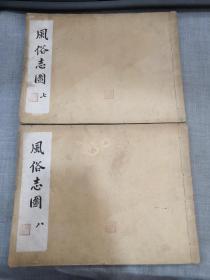 吴友如画宝(风俗志图 第十集 上下两册)