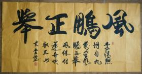手书真迹书法:中书协会员李强《风鹏正举》
