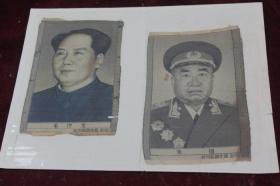 五十年代杭洲都锦生厂==毛泽东/朱德像