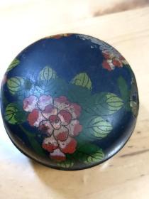 民国景泰蓝胭脂盒,直径9厘米。