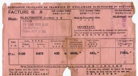 房屋水电专题---民国发票单据-----1946年12月上海法商电灯电车公司