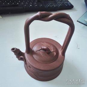 宗锡明款提梁紫砂壶