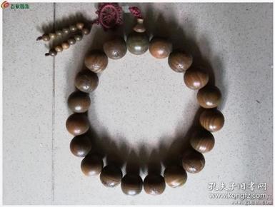 大型绿檀手串包真绿檀珠子【珠子直径3厘米】
