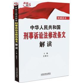 中华人民共和国刑事诉讼法修改条文解读