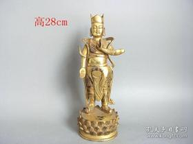 清代传世铜鎏金佛像