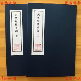 天笑短篇小说(上下两册)-包天笑-民国中华书局上海刊本(复印本)