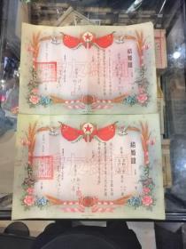 结婚证:1955年一对