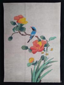 精彩手绘花鸟工笔画 国画 名人字画(背面有背胶)