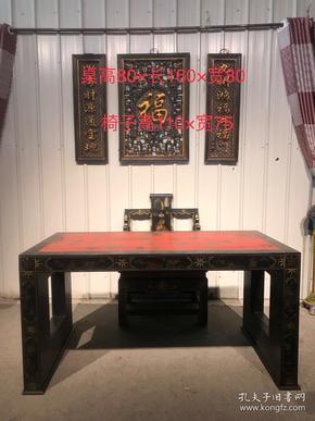 老物件,楠木大漆彩绘茶桌,造型美观大气,画工精美绝伦,包浆自然浓厚,家居装饰具佳
