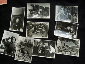 前苏联共和国红军照片9张,50年初期原版照片。新华社供稿。长边10厘米