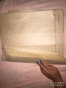 清代或民国大开本帘纹宣纸旧纸45张合售