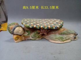 乡下收的唐三彩仕女瓷枕