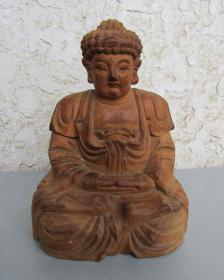 八.九十年代释伽牟尼木雕像