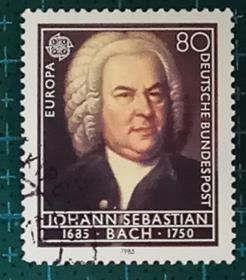 德国邮票----- 欧洲音乐年 音乐家巴赫(信销票)