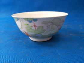 清 光绪  年制  大师 绘画瓷碗,画工精细   青料发色优雅 线条柔美 非常漂亮 识者珍之  值得收藏