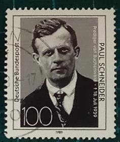 德国邮票-----牧师施纳德逝世50周年(信销票)
