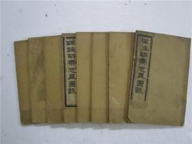 清光绪丙午上海文兴书局石印《详注聊斋志异图咏》卷首卷一至卷十六 1-16卷 八册全
