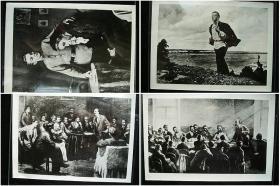 列宁在苏联十月革命时期的照片23张,大约尺寸10X15厘米。新华社图片上50年代原版照片