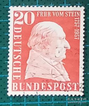 德国邮票----弗雷尔沃姆斯坦男爵(信销票)