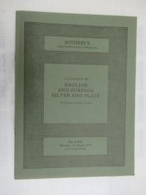 Sothebys |Catalogue of English and Foreign Silver and Plate(苏富比 英国和外国银盘目录)