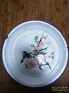 3搪瓷盘:任伯年花鸟