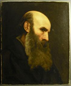 法国19世纪初古董人物肖像油画 尺寸:55.5×46CM 画布后有一处小修复,整体品相佳。83335#