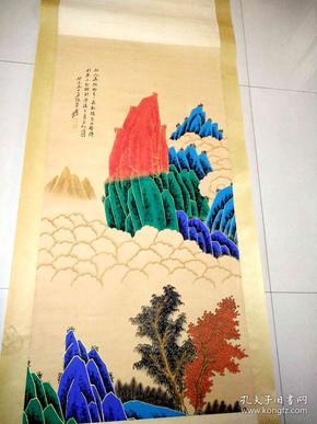 一副名人《张大千》山水画