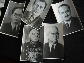 前苏联苏共5个领导人的照片5张,大约尺寸10X7厘米。新华社图片上50年代原版照片