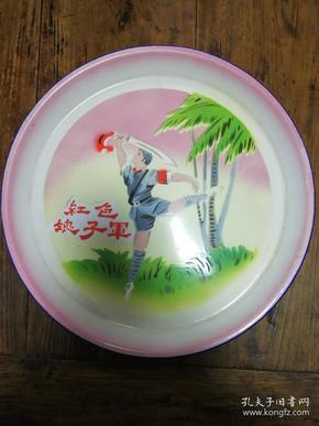 8搪瓷盘:红色娘子军(文革)