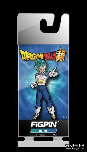 现货 全新七龙珠徽章 美国FiGPiN出品 龙珠超 超赛神 贝吉塔 3D立体扣针 预定立式徽章金属胸针FiGPiN Dragon Ball Super: Saiyan God Super Saiyan Vegeta Mini