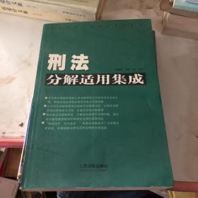 常用法律分解适用集成系列刑法分解适用集成(新编本)下卷