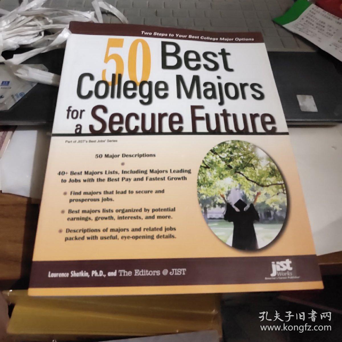 50 best college majors for a secure future【16开原版如图实物图】