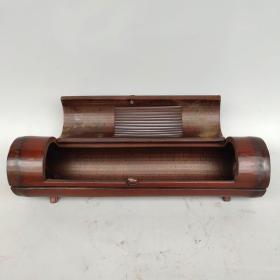 老竹根雕刻蛐蛐罐尺寸如图,重410克