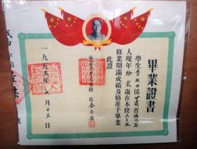 1955年临洮县城市学区中心学校毕业证