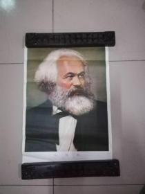 【70年代;马克思、恩格斯、列宁、斯大林(画像.52X36CM).4张