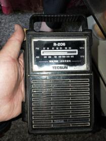 TECSUN 德生牌收音机 R-206 收听正常 便携式   两台合售