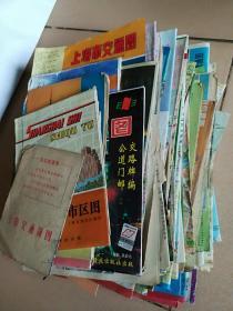 多种旅游交通图100多份 年代不一大小不一 就上海的最多 约十多份不同