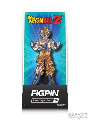 全新七龙珠徽章 美国FiGPiN出品七龙珠超级赛亚悟空立式徽章金属胸针 Dragon Ball FighterZ: Super Saiyan Goku