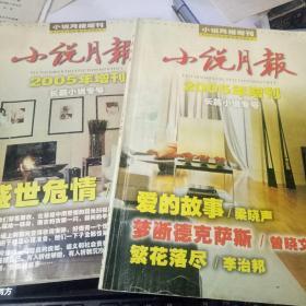小说月报 2005年增刊 长篇小说专号 :盛世危情.爱的故事两册合售