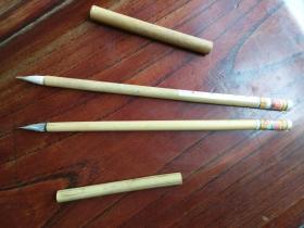 文革时期安徽桐城县肖店笔墨厂出品的前进小楷毛笔两支,品见描述包快递。