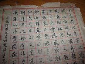 硬笔书法 黄英勃先生书法---8开2幅---品见图