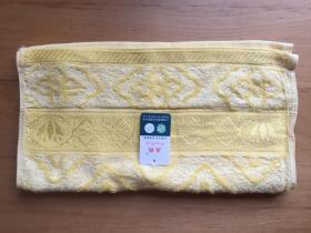 丛绒  提花毛巾M6601 34*75cm    50%棉 50%竹纤维(黄)
